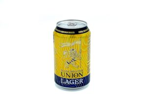 Beehive Food Manchester union Lager Single Can